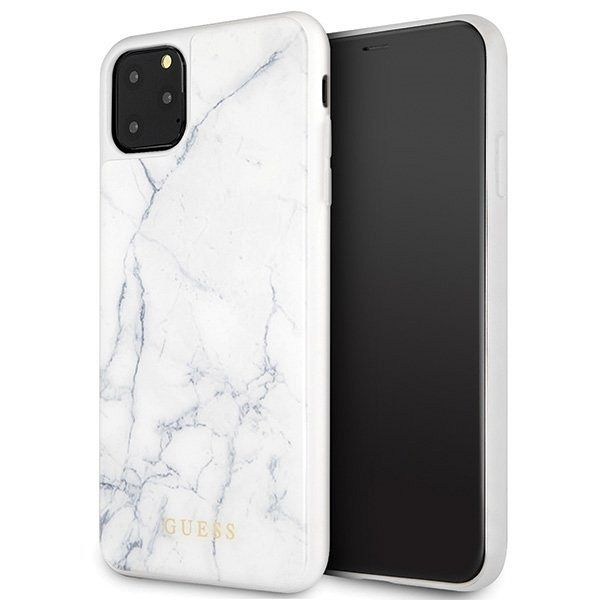 Originalna maska Guess (White marble) za iPhone 11 Pro Max