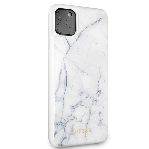 Originalen ovitek Guess (White marble) za iPhone 11 Pro Max