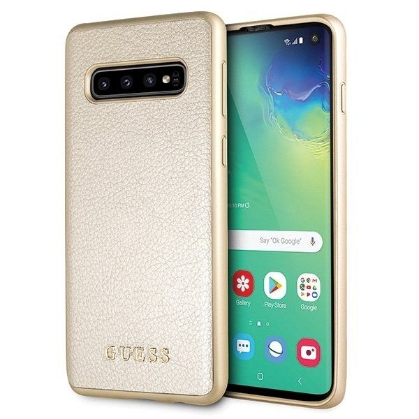 Originalna maska Guess (gold) za Samsung Galaxy S10