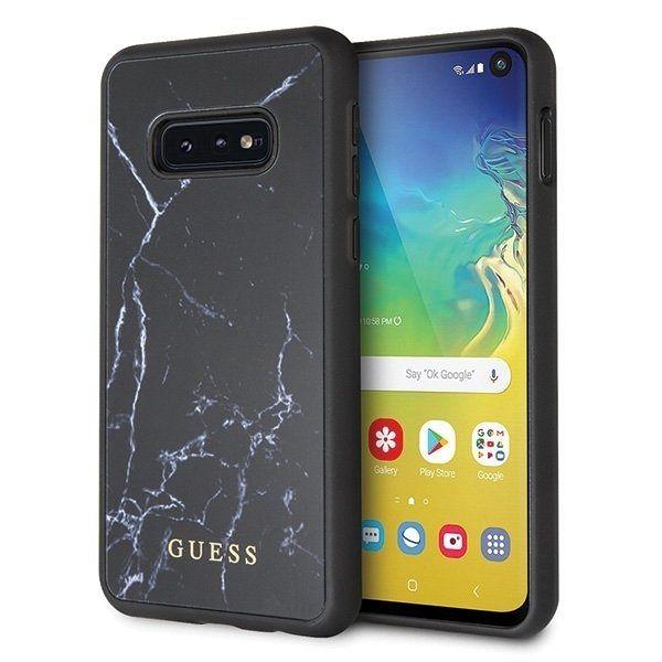 Originalen ovitek Guess (black marble) za Samsung Galaxy S10e