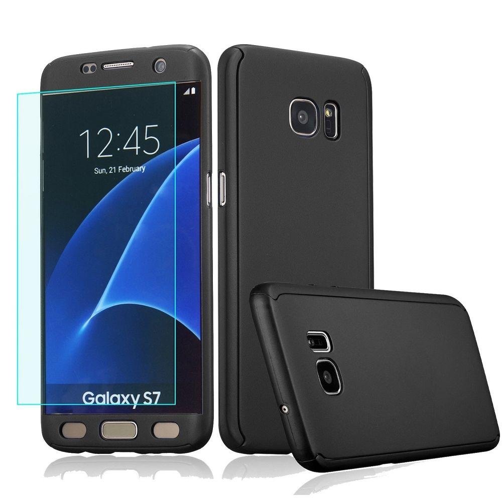 Ovitek 360° (črn) za Samsung Galaxy S7