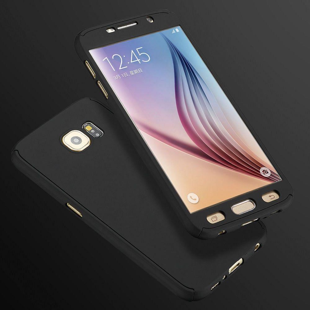 Ovitek 360° (črn) + zaščitna folija  za Samsung Galaxy S7 Edge