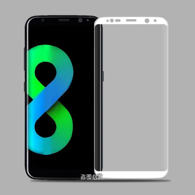 Zaščitno steklo 3D za Samsung Galaxy S8 z belo obrobo
