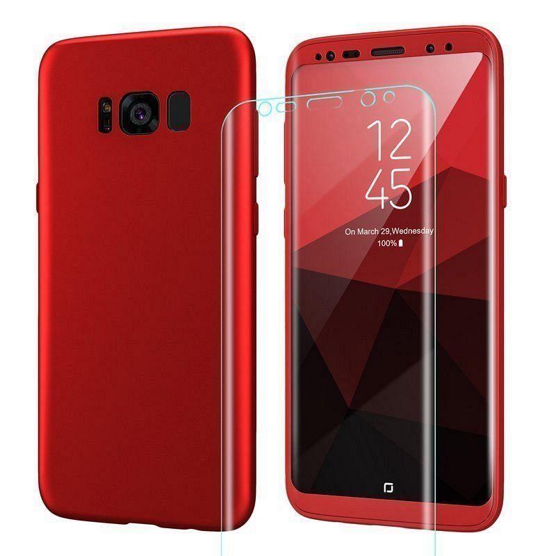 Ovitek 360° (rdeč) za Galaxy S9