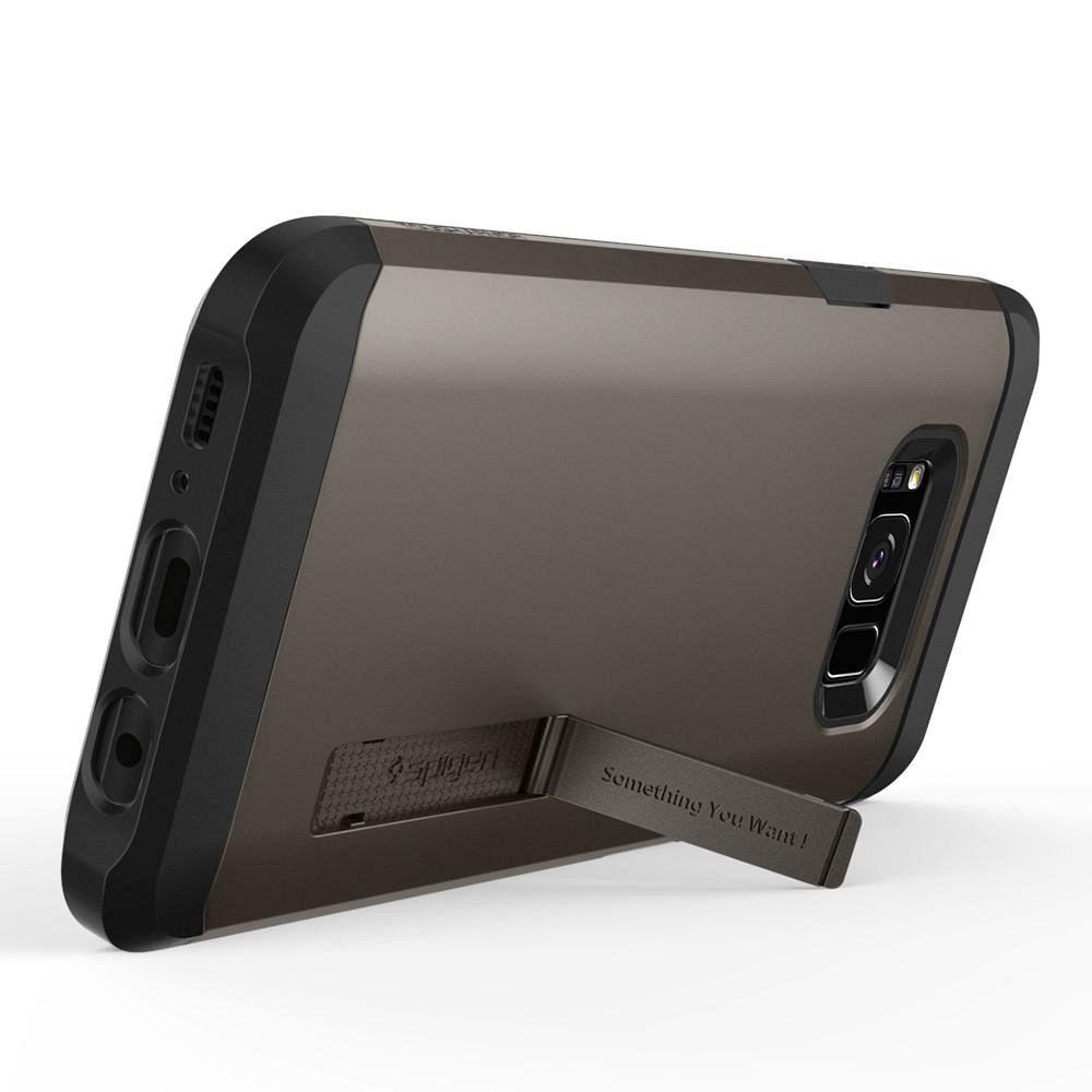 Ovitek Spigem Tough Armor (črno siv) za Samsung Galaxy S8 Plus