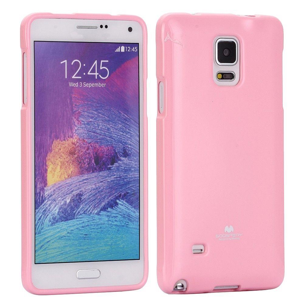 Ovitek TPU (svetlo roza) za Samsung Galaxy Note 4
