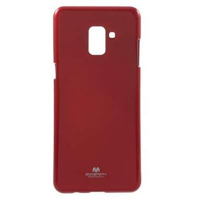 Ovitek TPU Goospery Jelly (rdeč) za Galaxy A8 2018