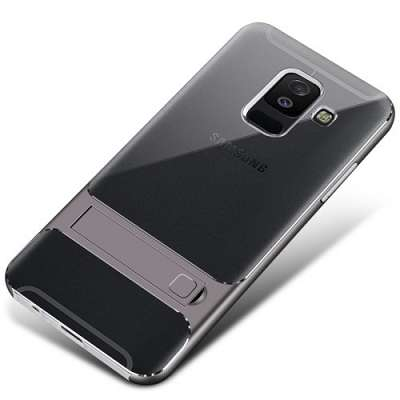 Ovitek TPU Kickstand (grey) za Samsung Galaxy A6 Plus