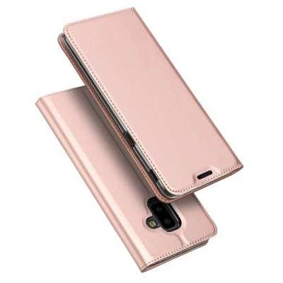Preklopni ovitek DUX DUCIS (rose gold) za Samsung Galaxy J6+