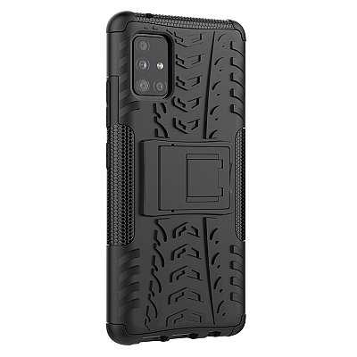 Ovitek Tire (Črn) za Samsung Galaxy A51