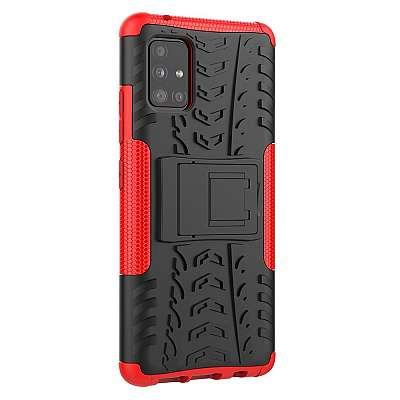 Ovitek Tire (Rdeč) za Samsung Galaxy A51