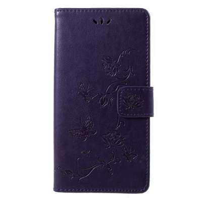 Preklopni ovitek (dark purple) za LG K10 (2018)