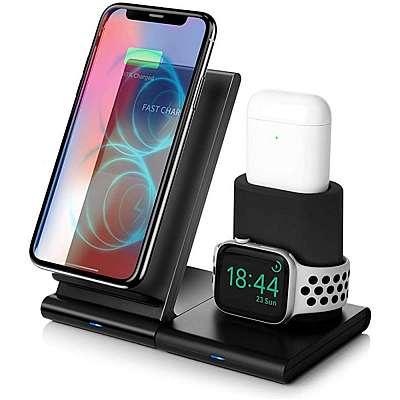 Brezžična polnilna postaja za iPhone in Apple Watch