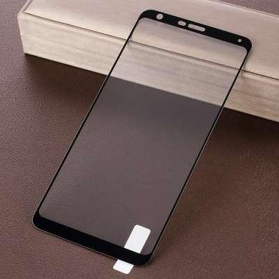 Kaljeno zaščitno steklo (black) za LG Q Stylus