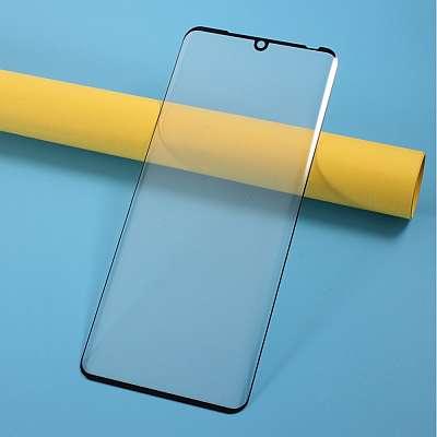 Kaljeno zaščitno steklo 3D (black) za LG Velvet