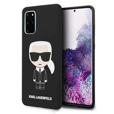 Originalen ovitek Karl Lagerfeld (Black silicone iconic) za Samsung Galaxy S20 Plus