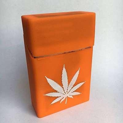 Ovitek za cigarete Konopolja (oranžen)