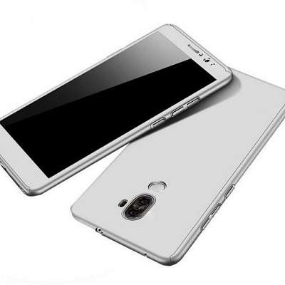 Ovitek 360° (srebrn) + zaščitno steklo za Huawei P20 Pro