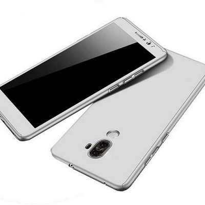 Ovitek 360° (srebrn) + zaščitno steklo za Huawei P30
