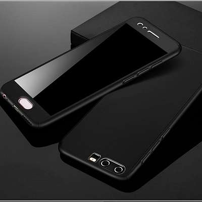 Ovitek 360° (Črn) za Huawei P20