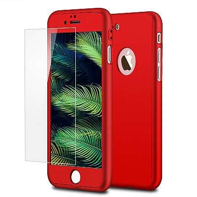 Ovitek 360° (Rdeč) za Apple iPhone 8 Plus