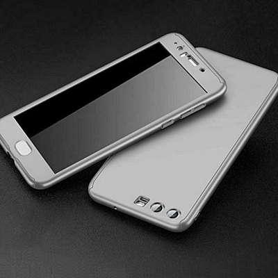 Ovitek 360° (Silver) + zaščitna folija za Huawei P30 Lite