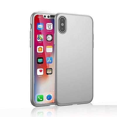 Ovitek 360° (srebrn) za Apple iPhone X/XS