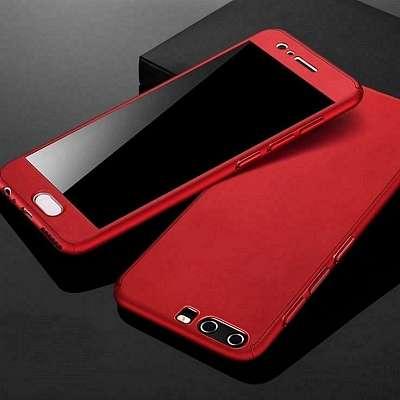 Ovitek 360°+ zaščitno steklo (Rdeč) za Huawei P smart Z/Honor 9X