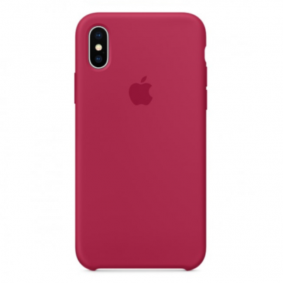 Ovitek TPU Silicone (rose red) za iPhone X/XS