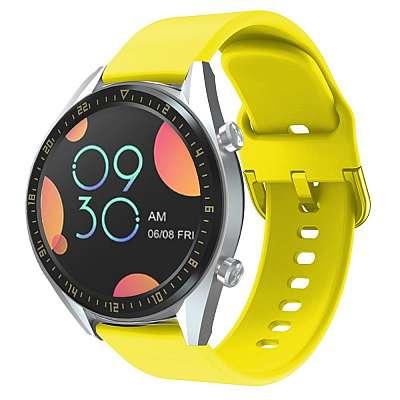 Silikonski pas za Huawei Watch GT / Watch GT2 / Watch Active (yellow)