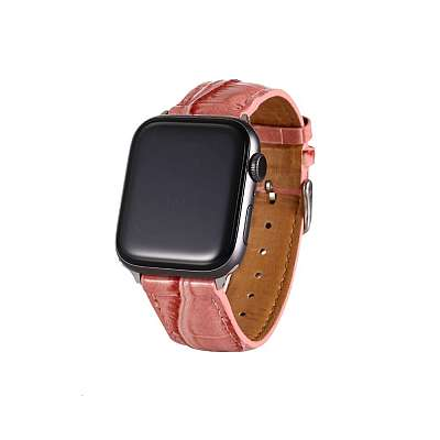 Usnjen pašček (rose gold) za Apple Watch 4/5/6/SE 44mm / Apple Watch Series 1/2/3 42mm