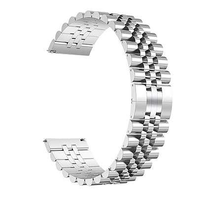 Kovinski pas 22mm Jubilee - silver