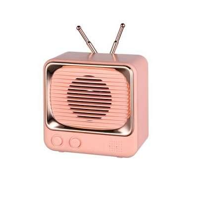 Bluetooth prenosni zvočnik DW02 Retro (pink)