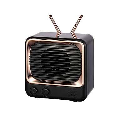 Bluetooth prenosni zvočnik DW02 Retro (black)