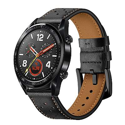 Premium pas za Huawei Watch GT / GT2 (black)