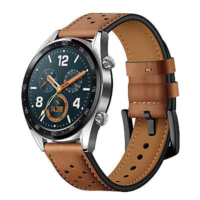 Premium lether pas za Huawei Watch GT / GT 2 (brown)