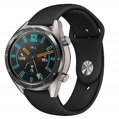 Silikonski pas za Huawei Watch GT / GT 2 (black)