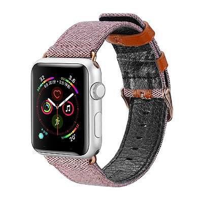 Pas DUX DUCIS (roza) za Apple Watch 4/5/6/SE 44mm / Apple Watch Series 1/2/3 42mm