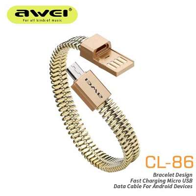 Micro USB bracelet (rose gold)