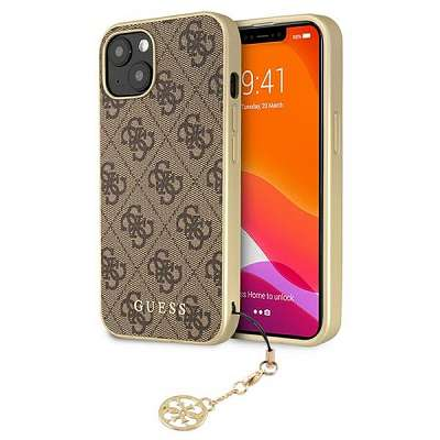 Original ovitek Guess (brown) Charms Collection za  iPhone 13 mini 4G