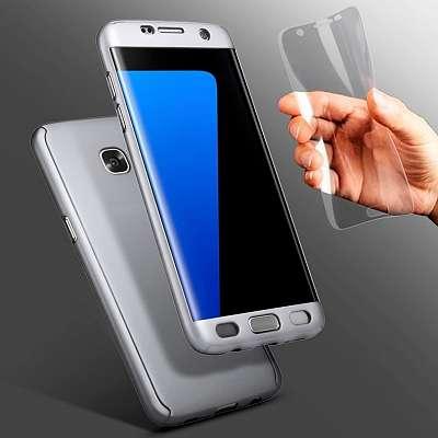 Ovitek 360° (srebrn) za Samsung Galaxy S7 Edge