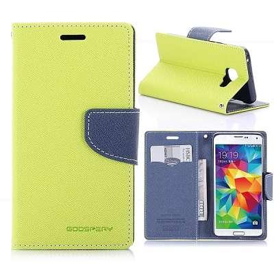 Preklopni ovitek Goospery (rumeno zelen) za Samsung Galaxy A3 (2016)