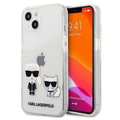 Original ovitek Karl Lagerfeld (transparent) Karl & Choupette za  iPhone 13