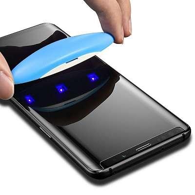 Premium kaljeno zaščitno steklo (UV svetloba) za Samsung Galaxy S8