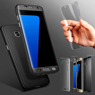 Ovitek 360° (črn) za Samsung Galaxy S7 Edge