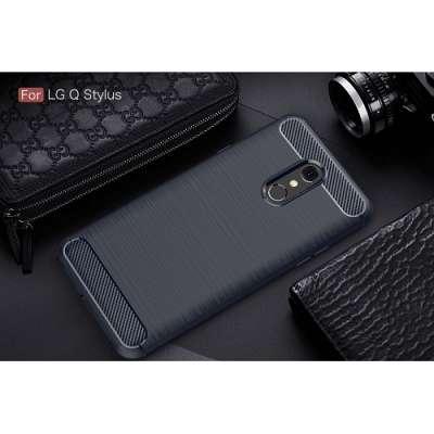 Ovitek Carbon fiber (blue) za LG Q Stylus