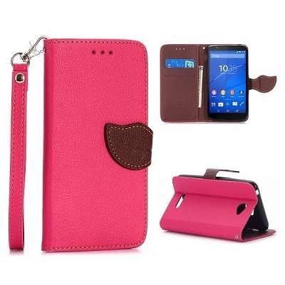 Preklopni ovitek (roza) za Sony Xperia E4