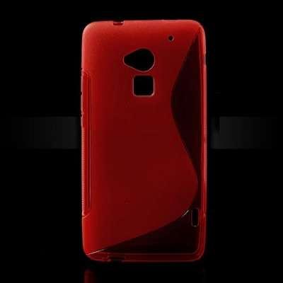 Ovitek TPU (rdeč) za HTC One Max