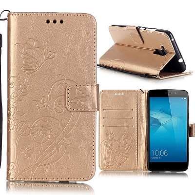Preklopni ovitek (zlat) za Huawei Honor 7 Lite/5c