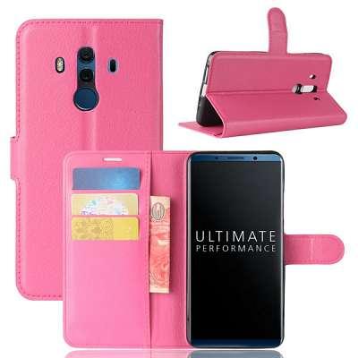 Preklopni ovitek (temno roza) za Huawei Mate 10 Pro